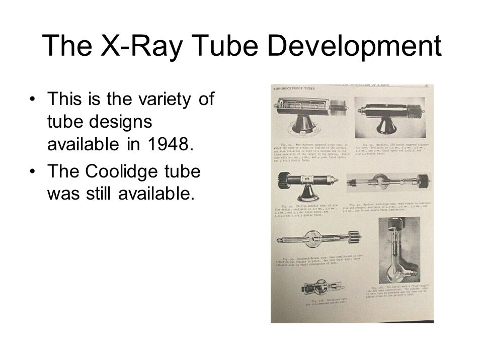 The X-Ray Tube Development