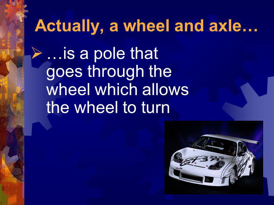 Actually, a wheel and axle…