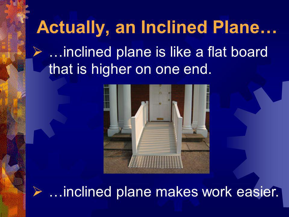 Actually, an Inclined Plane…