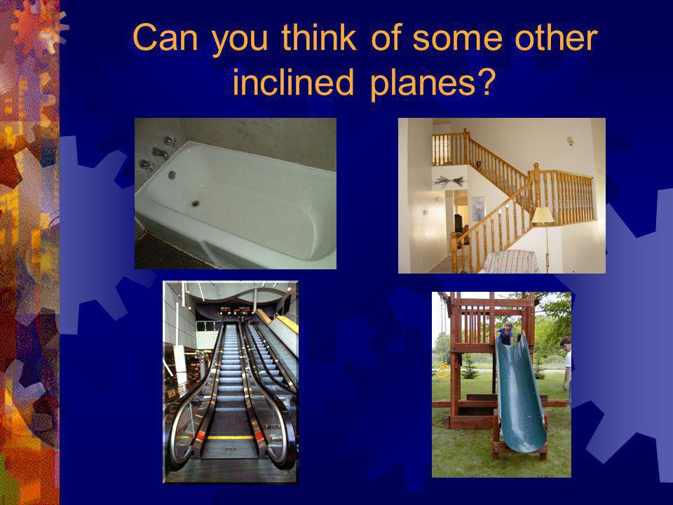 Can you think of some other inclined planes