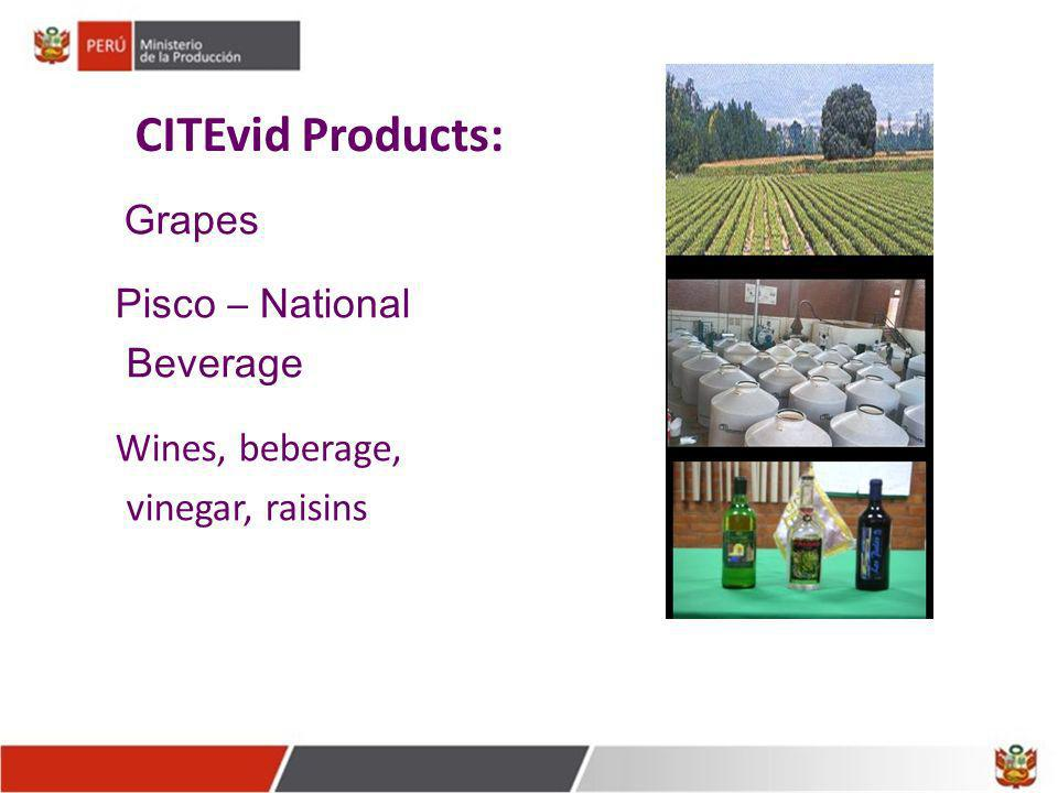 CITEvid Products: Pisco – National Beverage