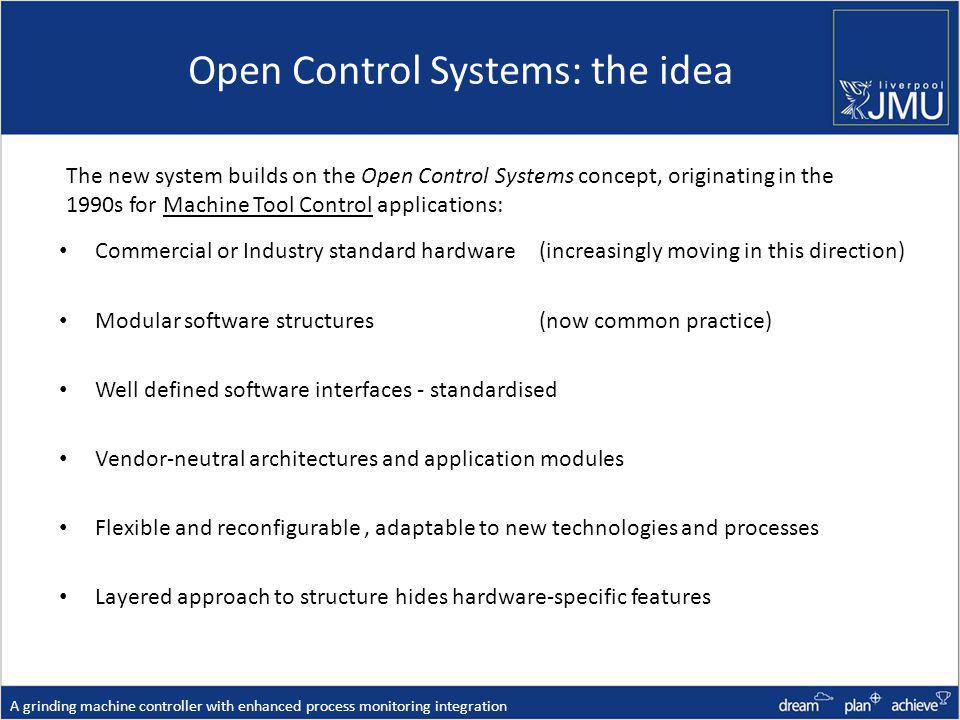 Open Control Systems: the idea