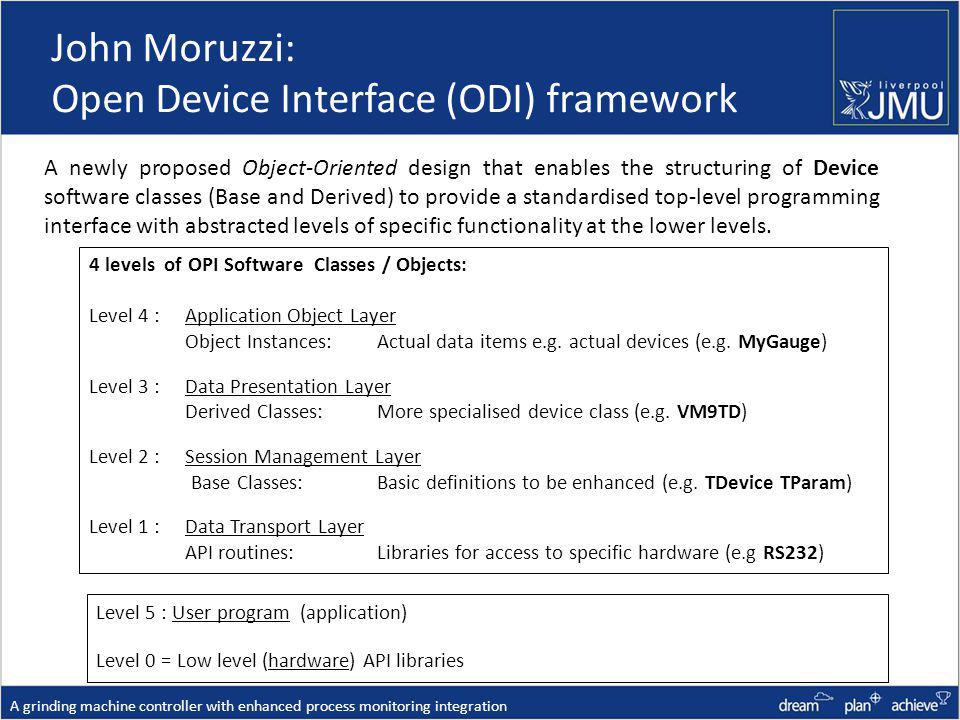 John Moruzzi: Open Device Interface (ODI) framework