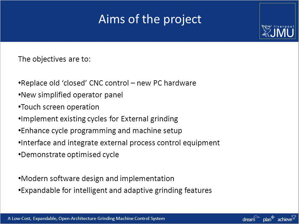 Aims of the project The objectives are to: