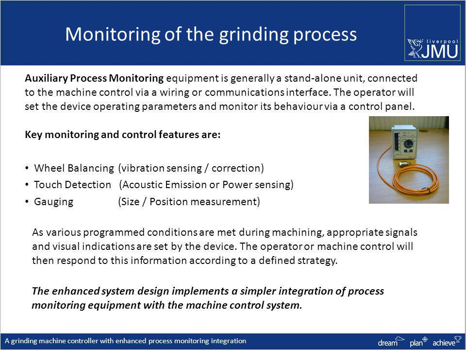 Monitoring of the grinding process