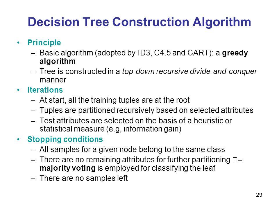 Decision Tree Construction Algorithm