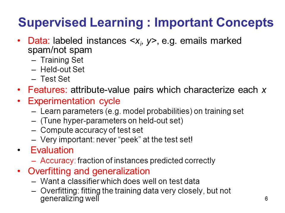 Supervised Learning : Important Concepts