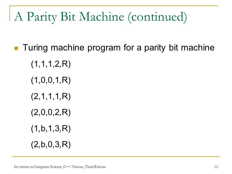 A Parity Bit Machine (continued)
