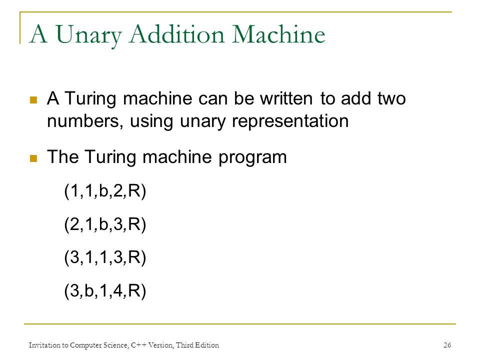 A Unary Addition Machine