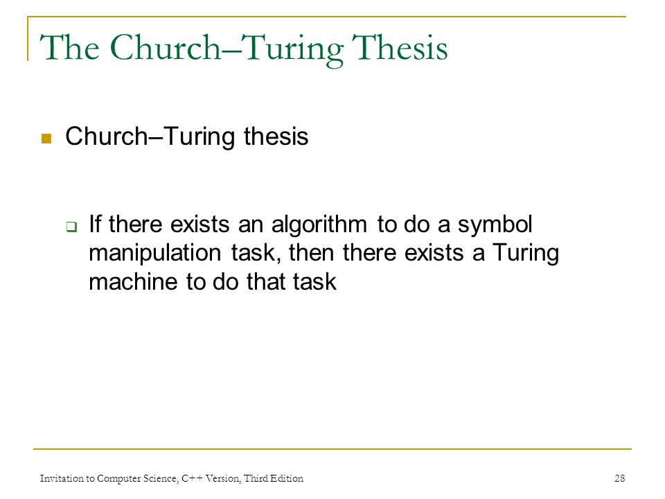 The Church–Turing Thesis