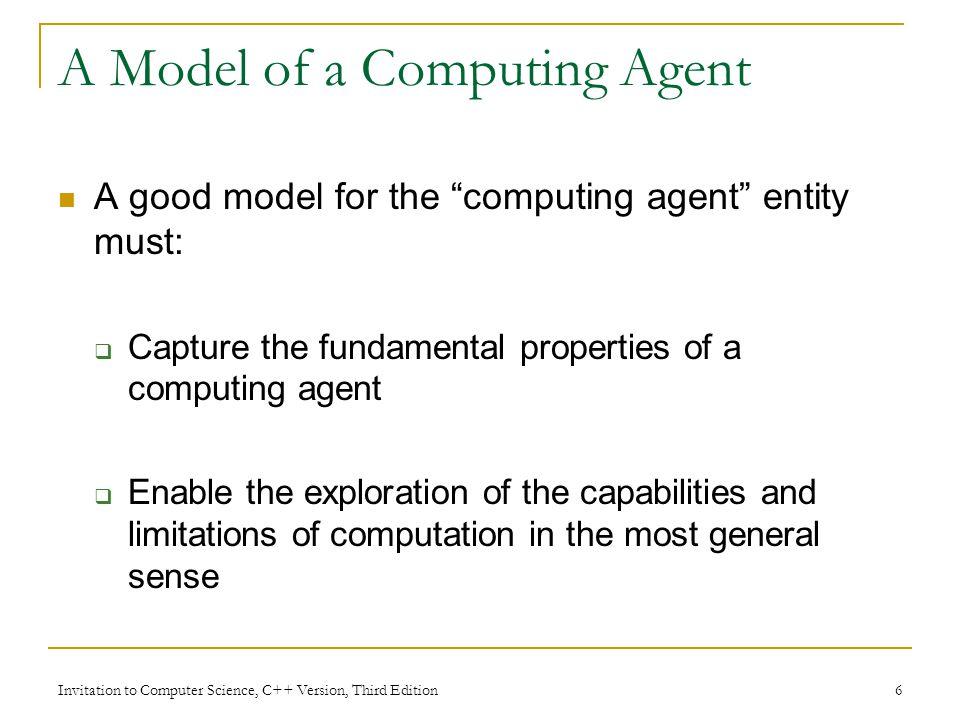 A Model of a Computing Agent