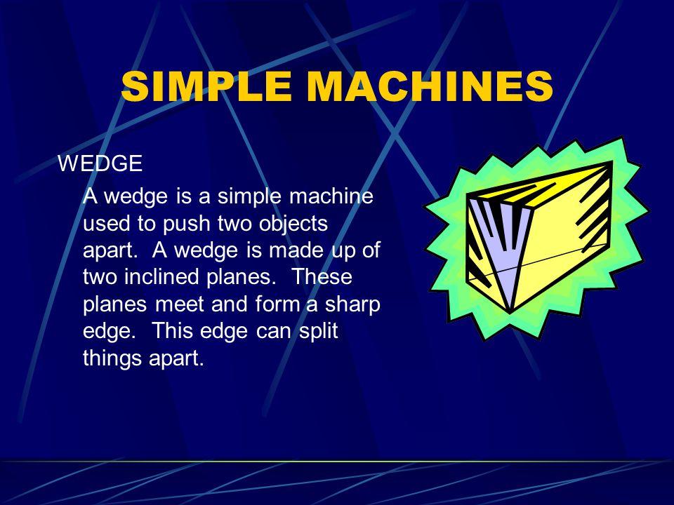 SIMPLE MACHINES WEDGE.