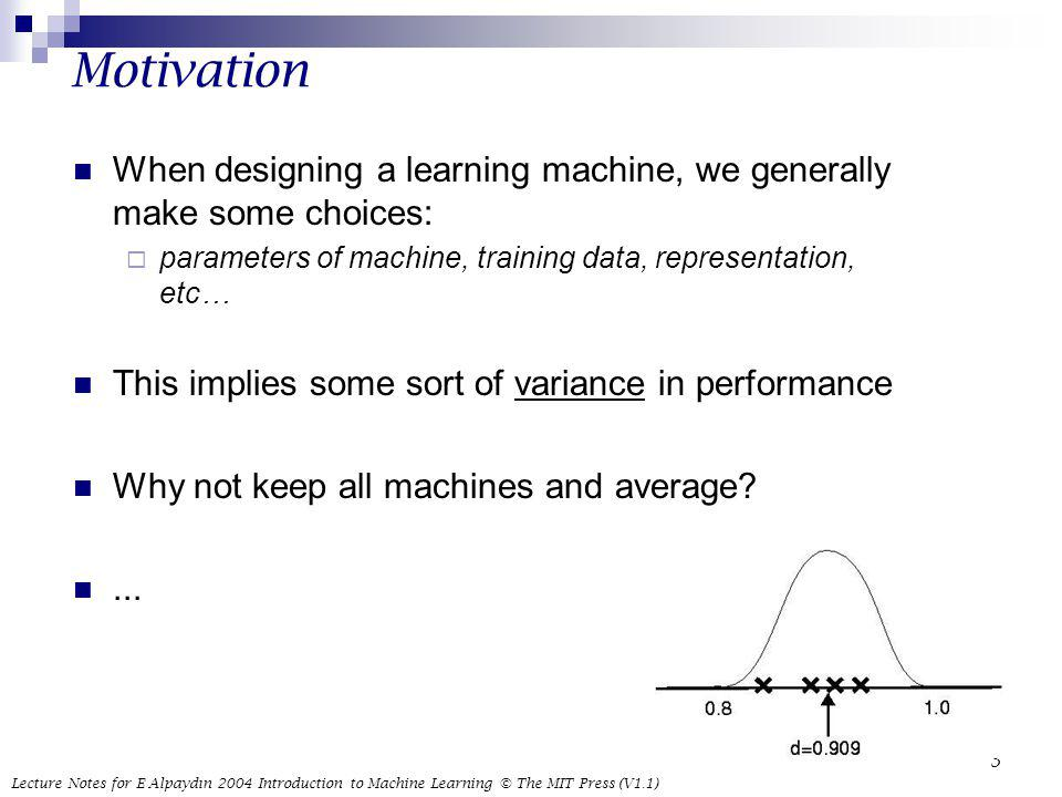 Motivation When designing a learning machine, we generally make some choices: parameters of machine, training data, representation, etc…