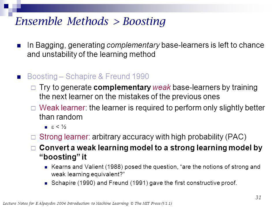 Ensemble Methods > Boosting