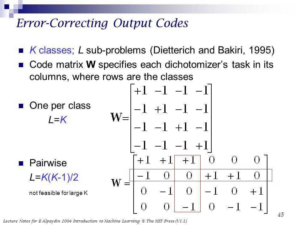 Error-Correcting Output Codes