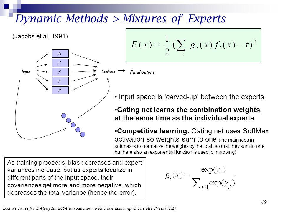 Dynamic Methods > Mixtures of Experts