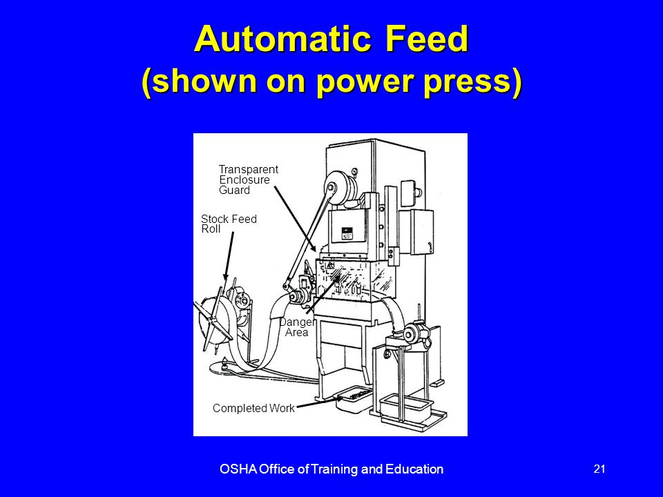 Automatic Feed (shown on power press)