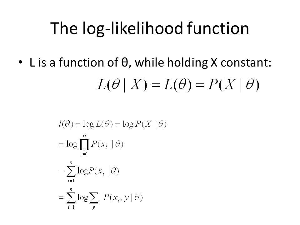 The log-likelihood function