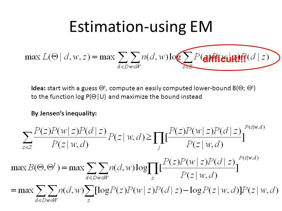 Estimation-using EM difficult!!!