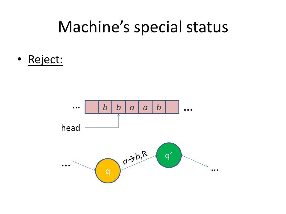 Machine's special status