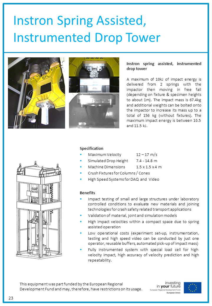 Instron Spring Assisted, Instrumented Drop Tower