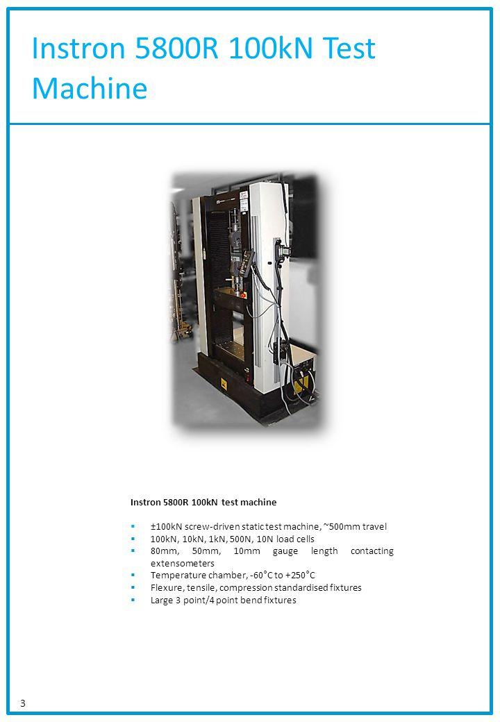 Instron 5800R 100kN Test Machine