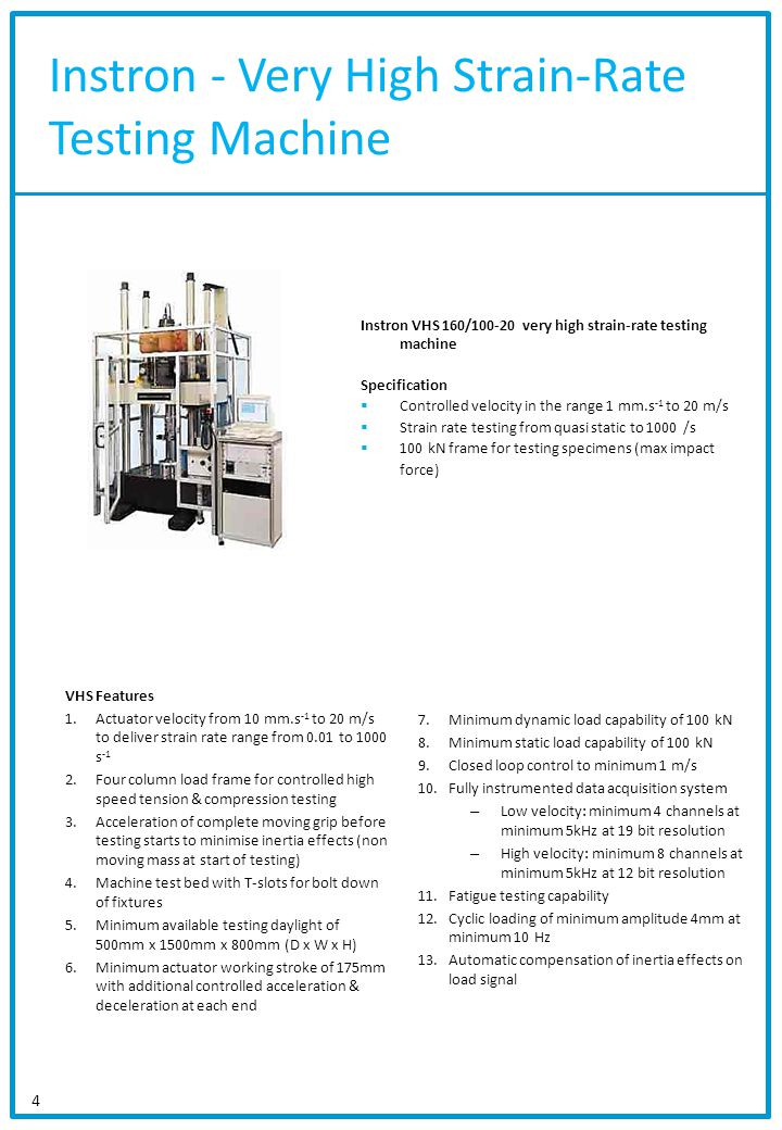 Instron - Very High Strain-Rate Testing Machine