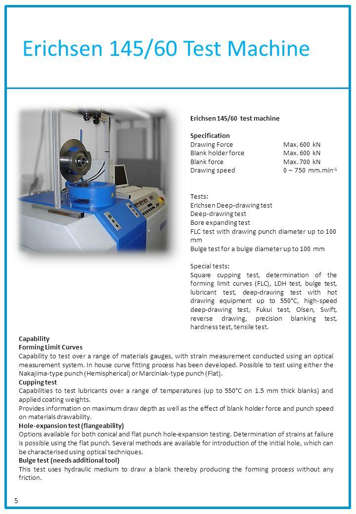 Erichsen 145/60 Test Machine