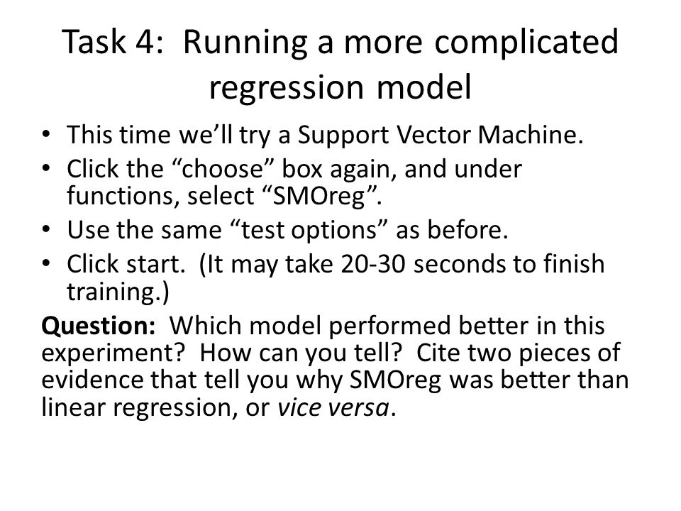 Task 4: Running a more complicated regression model