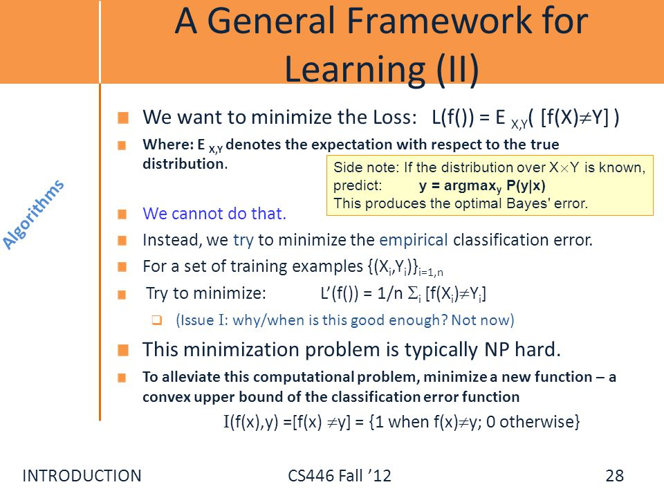 A General Framework for Learning (II)