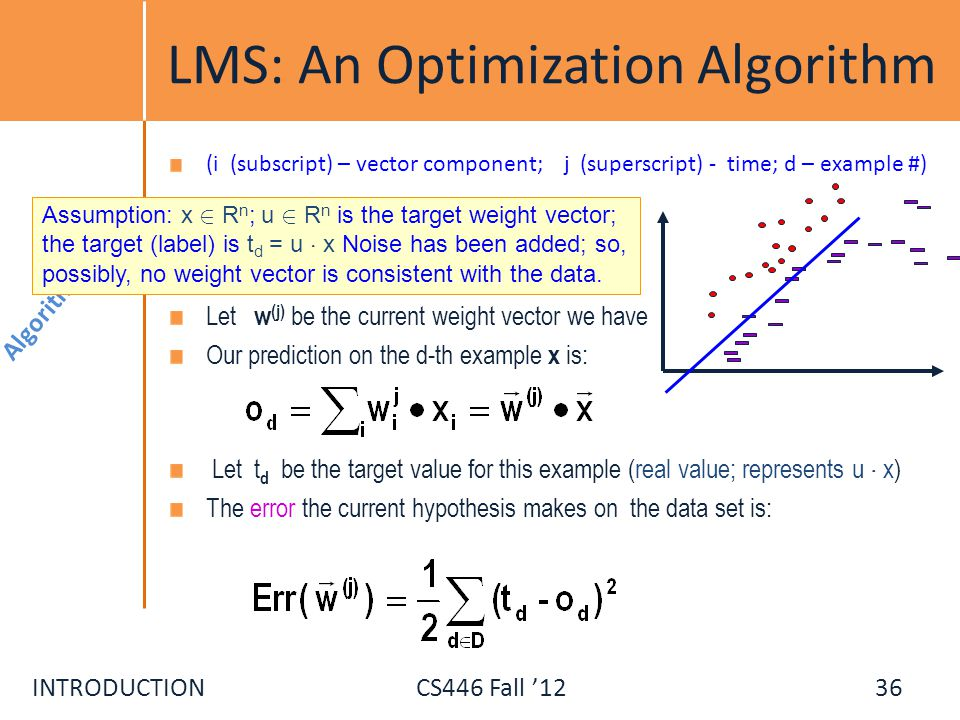 LMS: An Optimization Algorithm