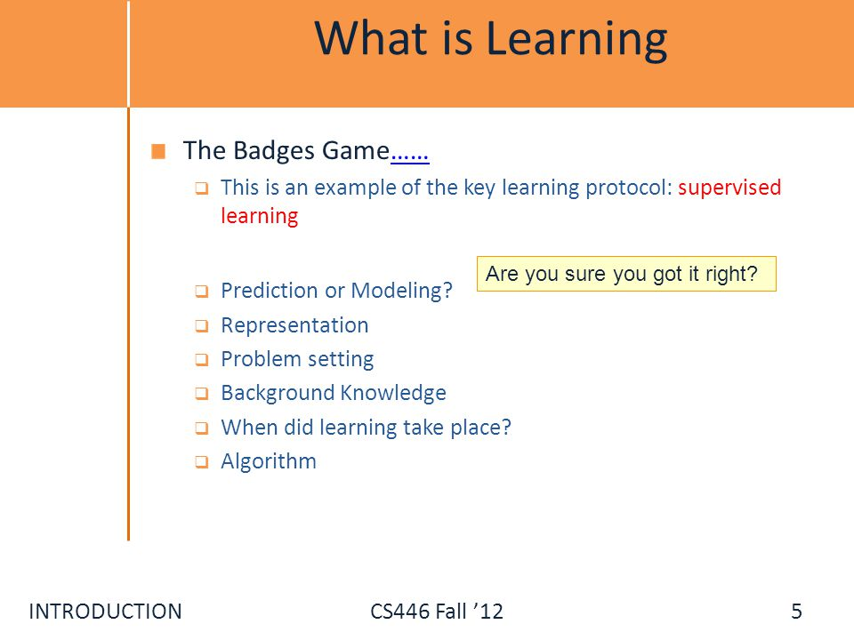 What is Learning The Badges Game……