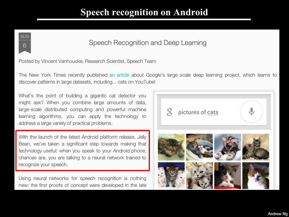 Speech recognition on Android