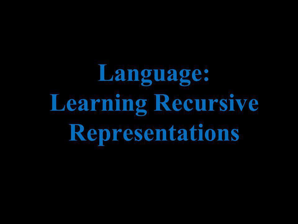 Language: Learning Recursive Representations