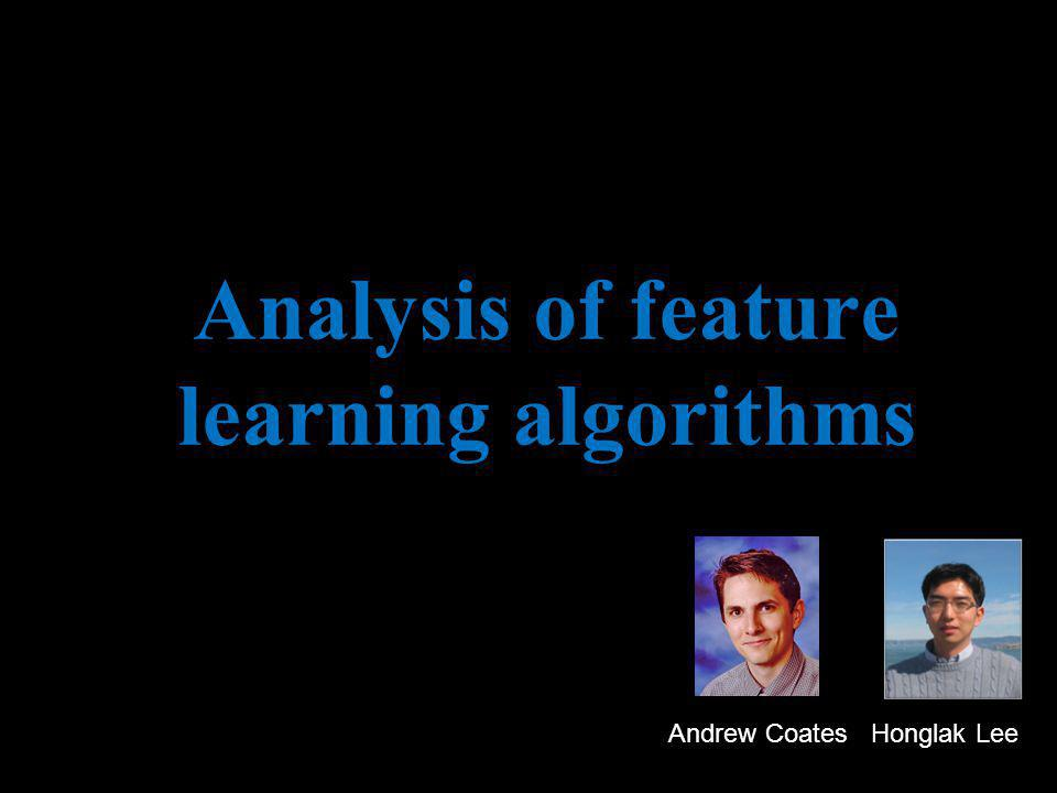 Analysis of feature learning algorithms