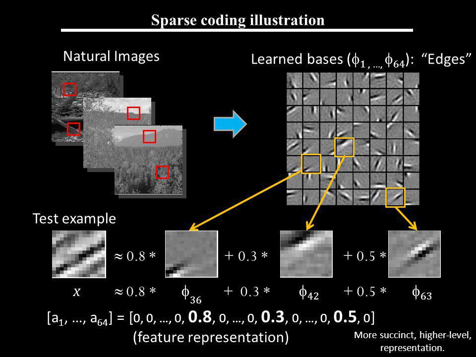 Sparse coding illustration