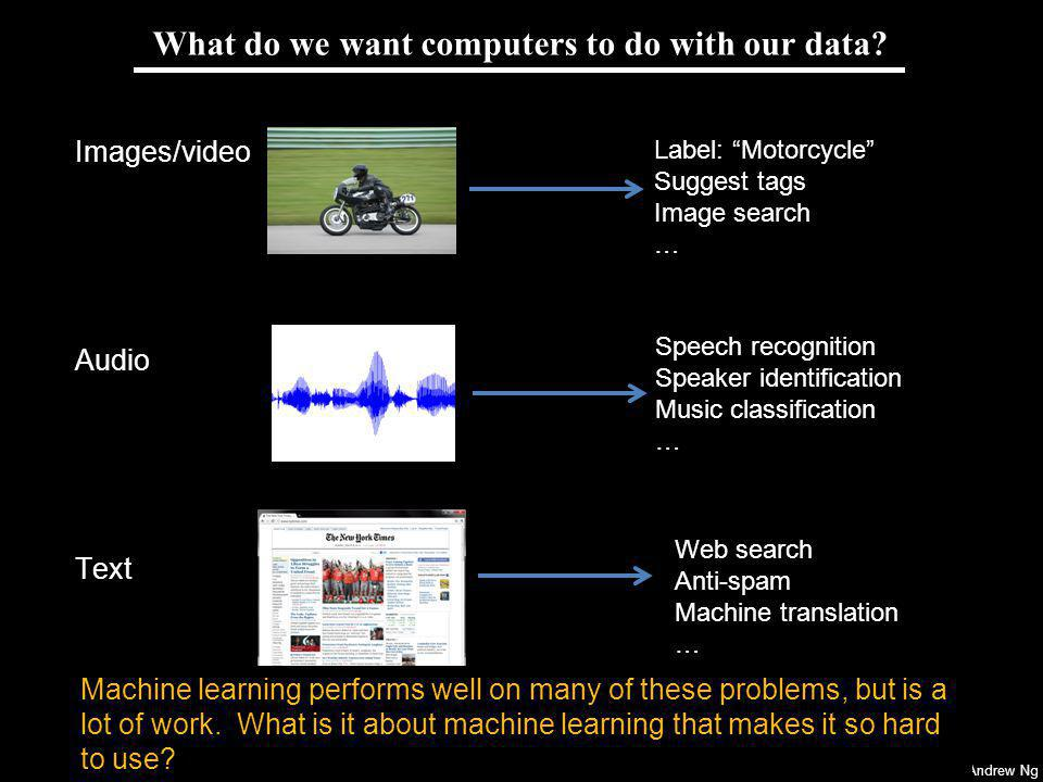 What do we want computers to do with our data