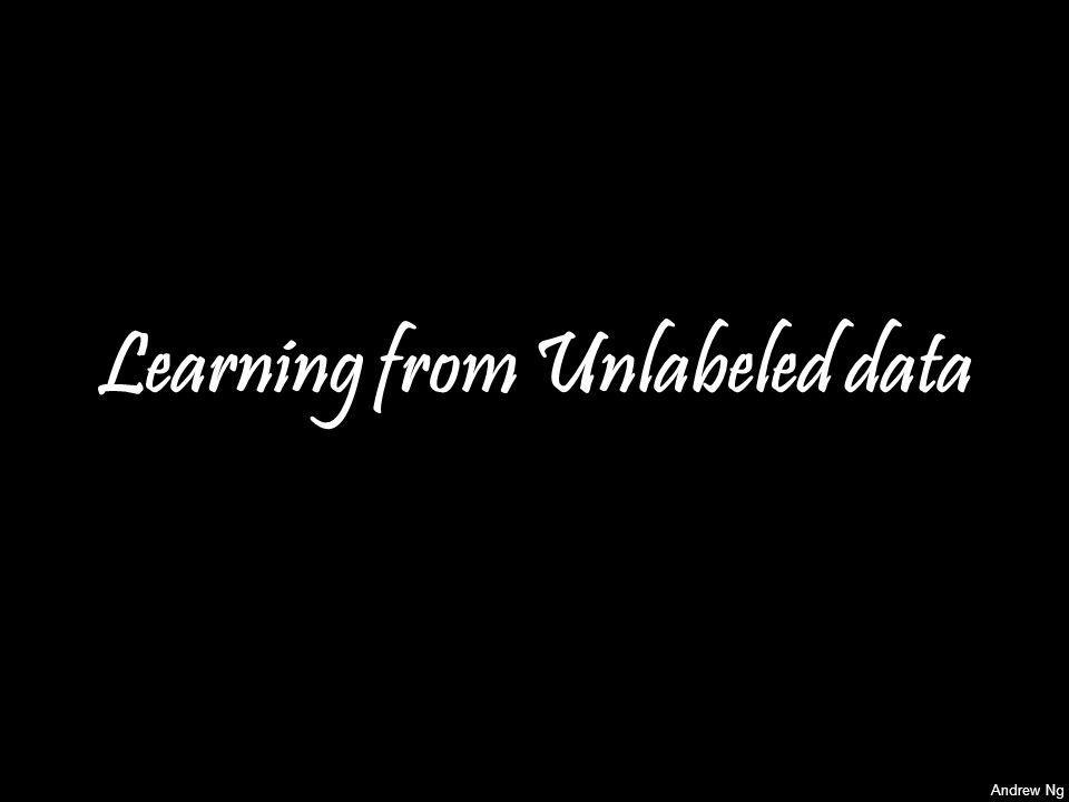 Learning from Unlabeled data