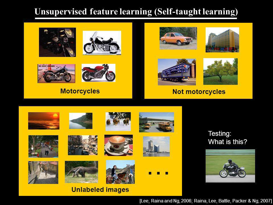Unsupervised feature learning (Self-taught learning)