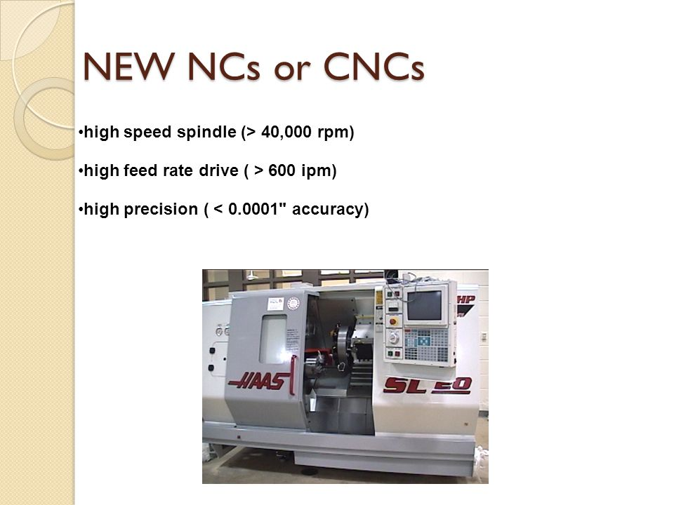 NEW NCs or CNCs high speed spindle (> 40,000 rpm)
