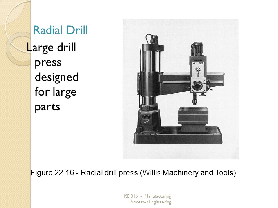 Figure 22.16 ‑ Radial drill press (Willis Machinery and Tools)