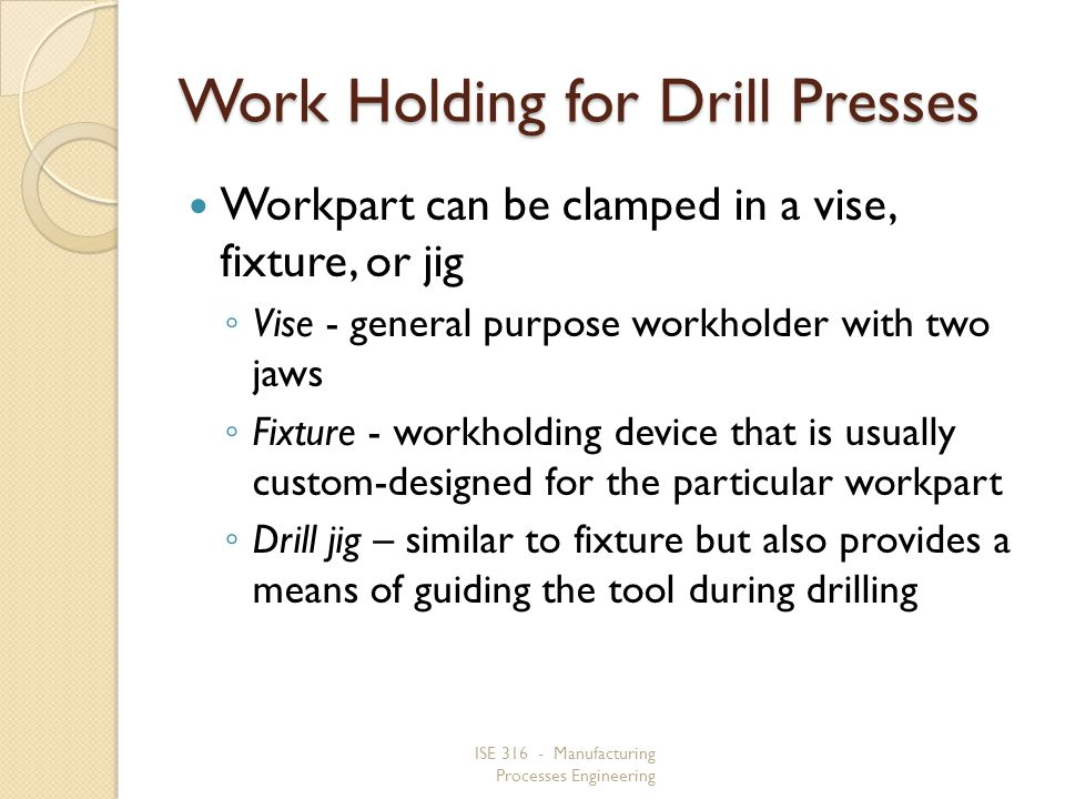 Work Holding for Drill Presses