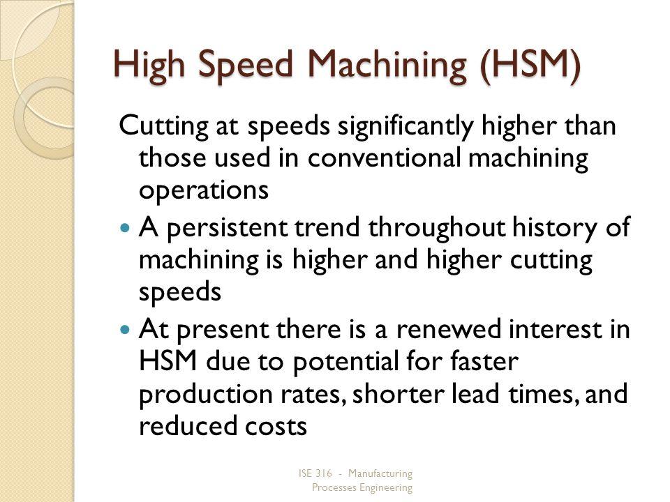 High Speed Machining (HSM)