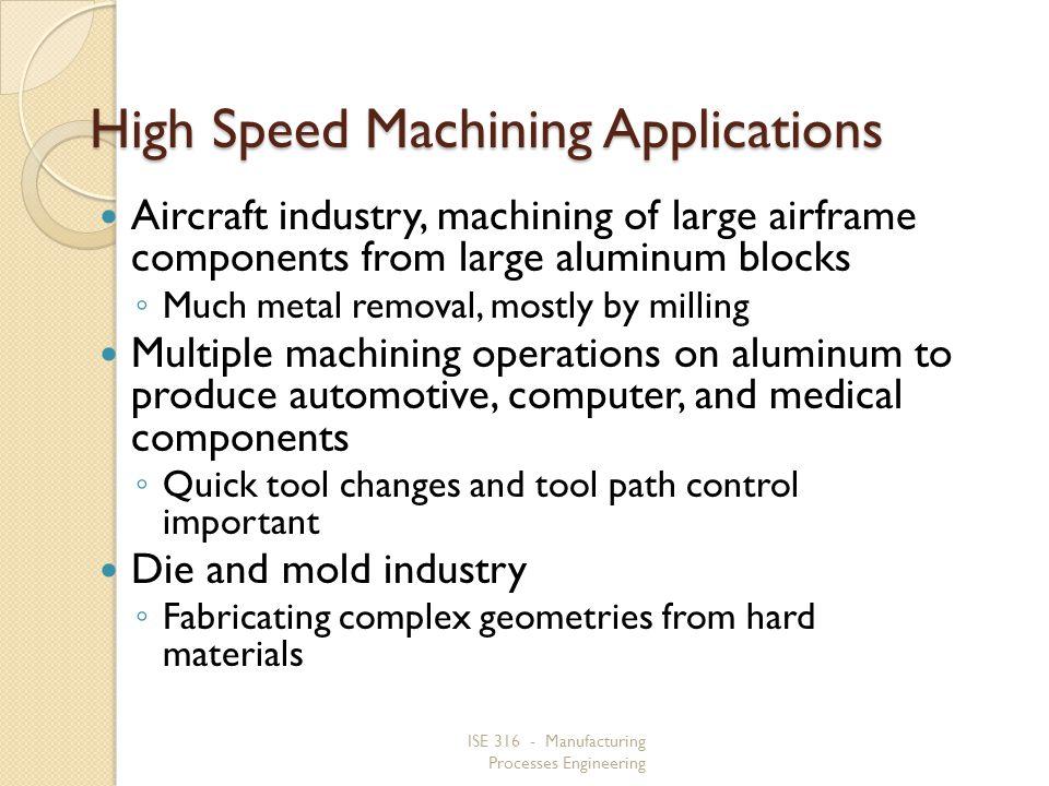 High Speed Machining Applications