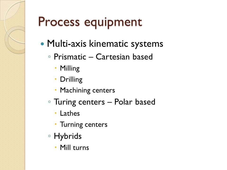 Process equipment Multi-axis kinematic systems