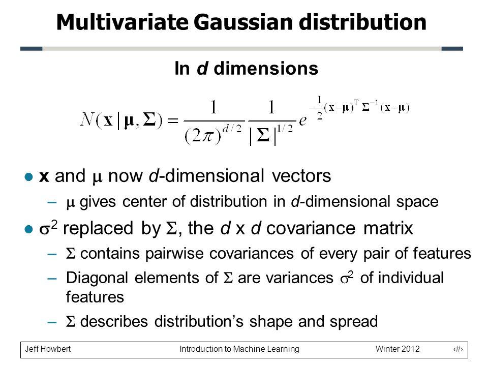 Multivariate Gaussian distribution