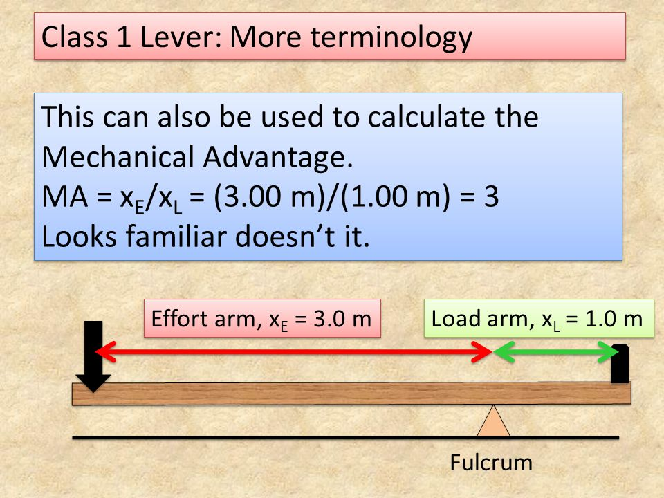 Class 1 Lever: More terminology