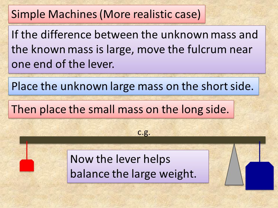 Simple Machines (More realistic case)