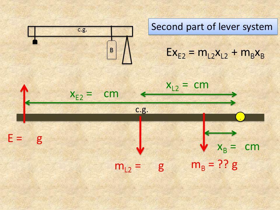ExE2 = mL2xL2 + mBxB xL2 = cm xE2 = cm E = g xB = cm mB = g mL2 = g