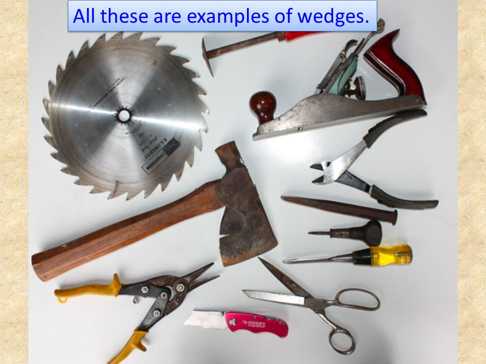 All these are examples of wedges.